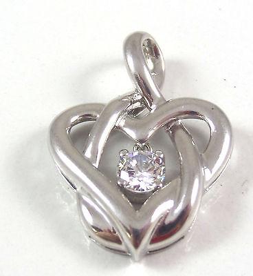 Vintage 925 Sterling Silver Heart Weave Slider Pendant (2.7g) - 456975