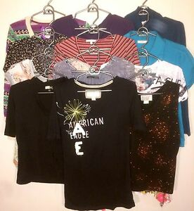 Women's L 12 pc Assorted Tops Lot #26
