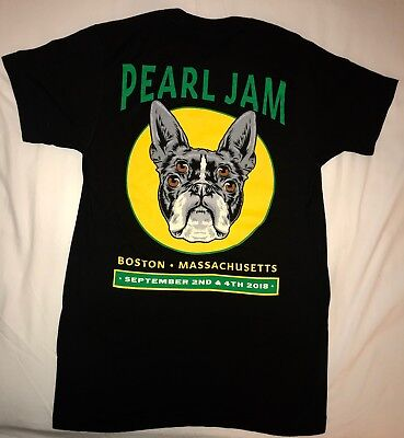 Pearl Jam boston t shirt fenway park large 2018 pj tour terrier dog new