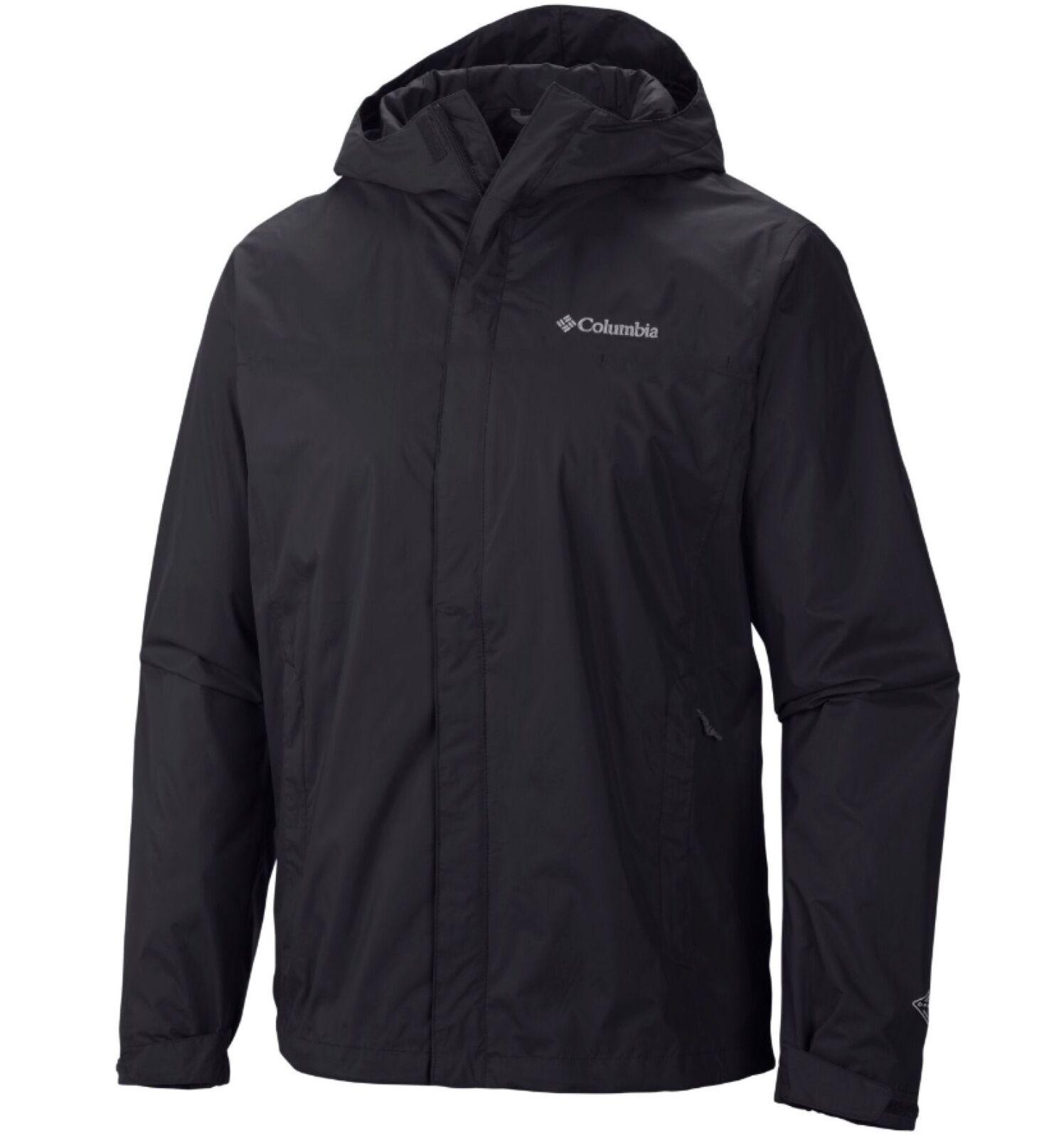 New Columbia mens Timber Pointe waterproof rain jacket coat Black Big Tall  фото 766f2b6e422