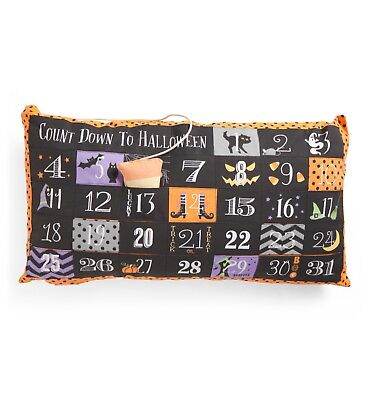NWT * Halloween Advent Count Down Pillow * 14 x 27 * Fun for Kids