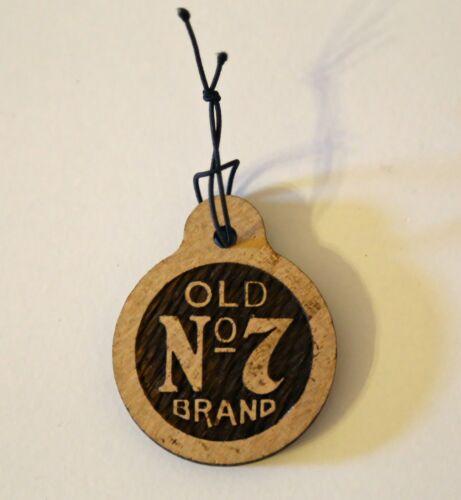 Wooden Jack Daniels Distillery 150th Anniversary Hang Tag Barrel Wood
