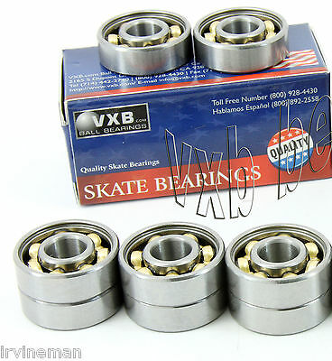 Pack Of 8 Scooter Skate Premium Open Ball Bearing With Low Friction Bronze Cage