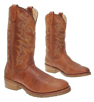 DOUBLE H/H Cowboy Boots 11.5 EE Mens Brown WESTERN Rodeo Work Boots Motorcycle