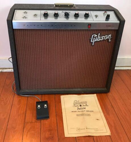 1963 Gibson Falcon Guitar Amplifier w/ Foot Pedal. Model GA-19 RVT.
