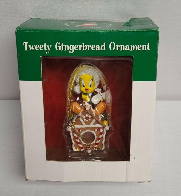 Warner Bros Studio Store Tweety Gingerbread Ornament Christmas Vintage 1997