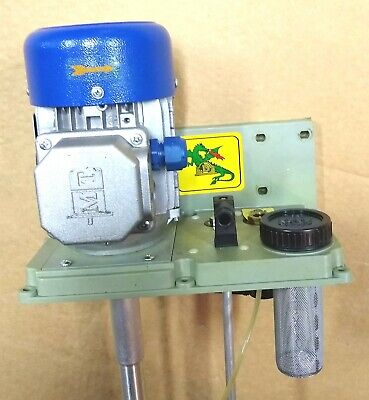 Mt Cnc Milling Machine Oil Coolant Pump Motor Mill Filter Italy 277 480 Volts
