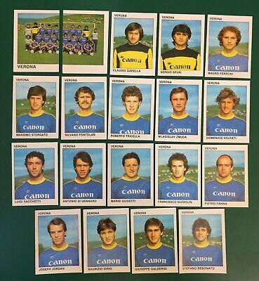 LOTTO DI 19 FIGURINE ALBUM CALCIATORI CALCIO FLASH 84 1983-84 VERONA COMPLETA