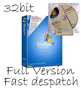 Windows XP Professional SP3 32bit with COA License Product Key + install disc cd