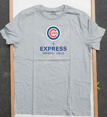 CHICAGO CUBS MLB BASEBALL EXPRESS CLOTHING WRIGLEY FIELD T-SHIRT SIZE LARGE NWT