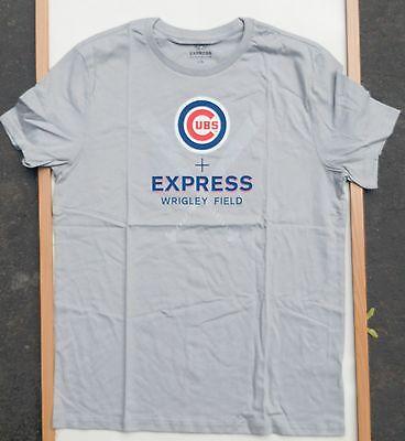 CHICAGO CUBS MLB BASEBALL EXPRESS CLOTHING WRIGLEY FIELD T-SHIRT SIZE LARGE NWT