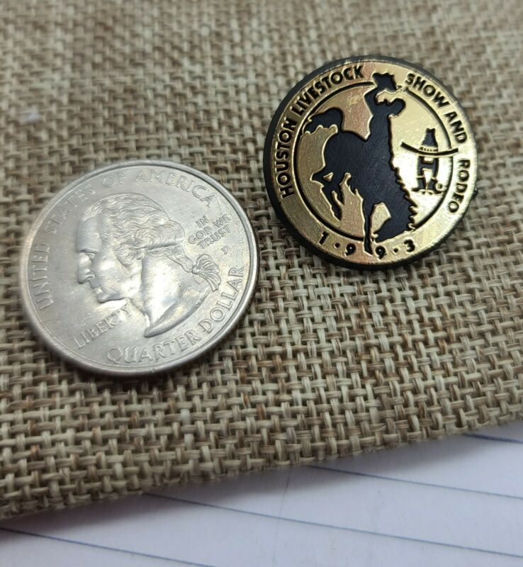 Vintage 1993 Houston Livestock Show And Rodeo Pin. Plastic.