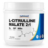 Pure L-Citrulline Malate (2:1) by Nutricost 600 Grams - 200 Serv