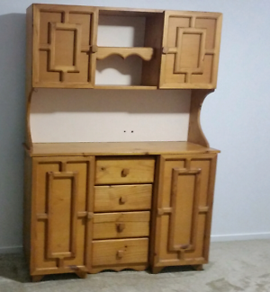 Solid pine cabinet for living room