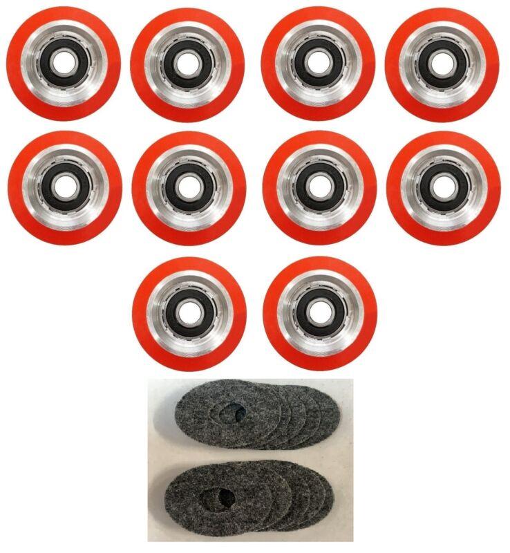 10 x SUPERIOR QUALITY ORANGE DRUM ROLLER BEARING FOR HUEBSCH/SQ/IPSO - 70568201