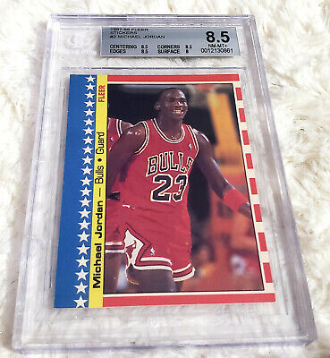1987-88 Fleer Michael Jordan Sticker #2 BGS 8.5 Subs (8.5, 8.5, 8.5, 8)