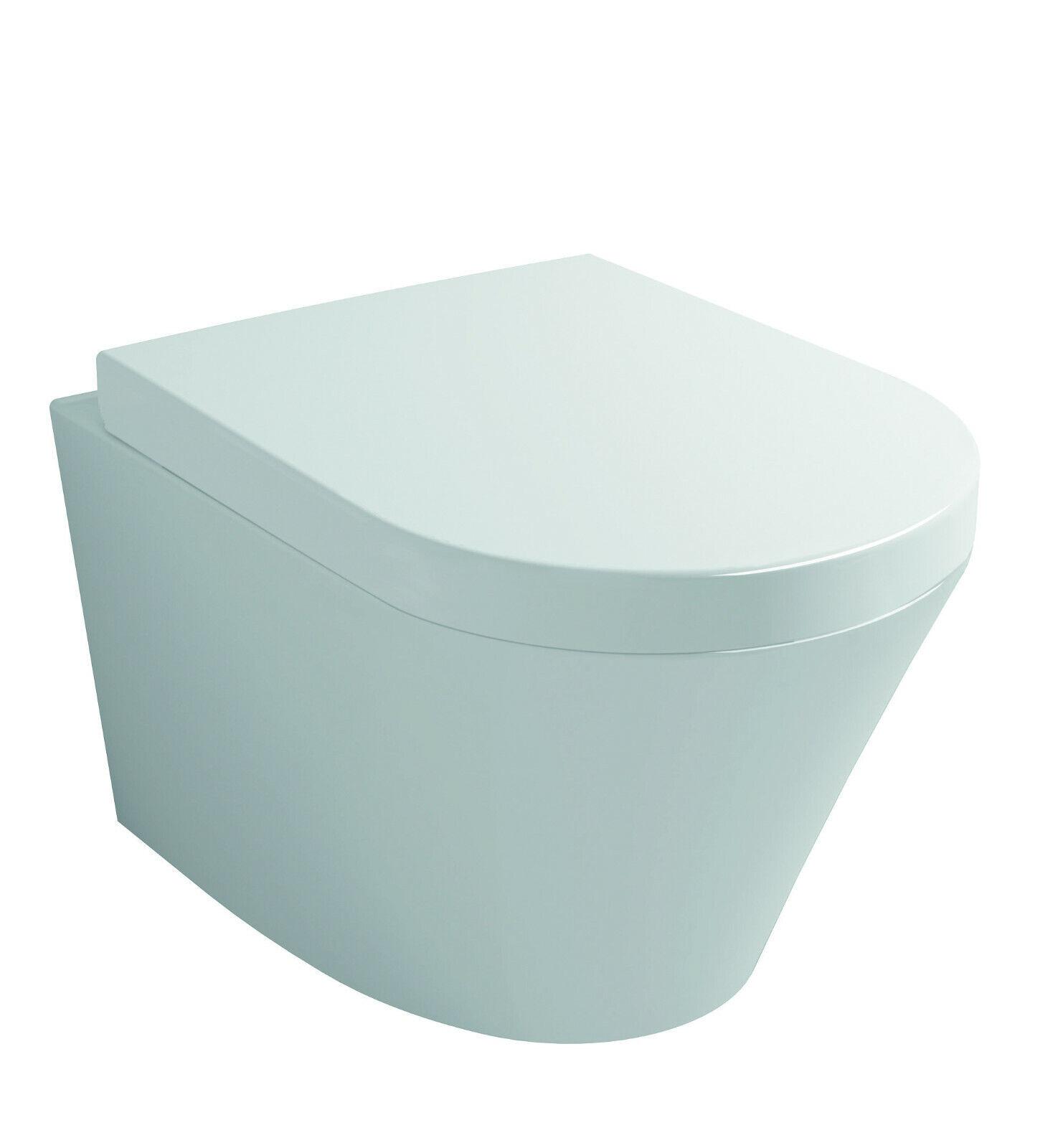 Wand WC  wandhängend weiß SPÜLRANDLOS + Beschichtung + SOFTCLOSE Sitz +Befest.