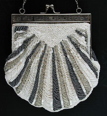 Art Deco Opern- Abend - Hochzeits - Trachtentasche mit Perlen !!!