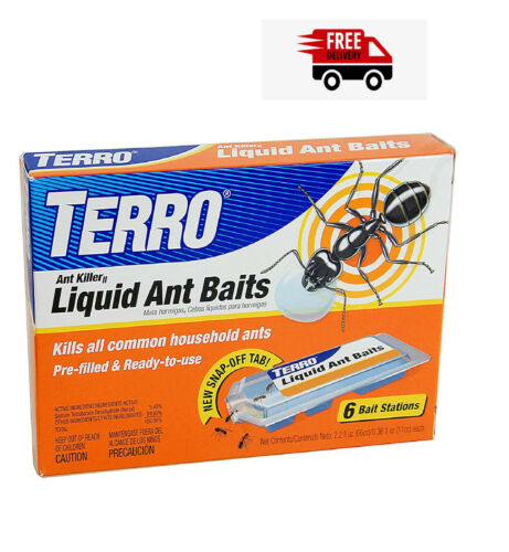 Terro 300 Liquid Ant Killer Bait Stations Traps (Pack Of 6 Stations)