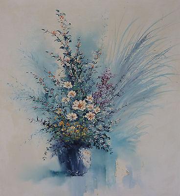 Blumen Stillleben Ölgemälde 78x90 cm japanischer Künstler Dobashi Eiko Japan