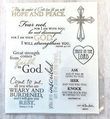 2 Sheets Religious Inspirational Words Faith Bible  Stickers Papercraft Planner ](Scripture Stickers)