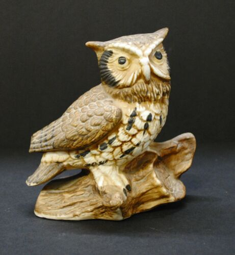 Vintage Homco Horned Owl Ceramic #1114 Wise Home Interior Decorative Collectable