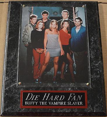 #1 FAN BUFFY THE VAMPIRE SLAYER CAST FRAMED 8 X 10 PHOTO PLAQUE DISPLAY GELLAR
