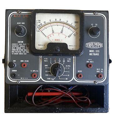 Vintage Triumph Model 333s Multirange Analyzer Multimeter.