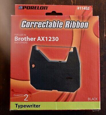 1 Correctable Porelon Typewriter Ribbon Brother 11452 Ax1230ax-series