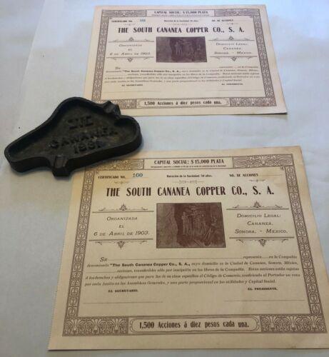 Antique Mining Share Certificates