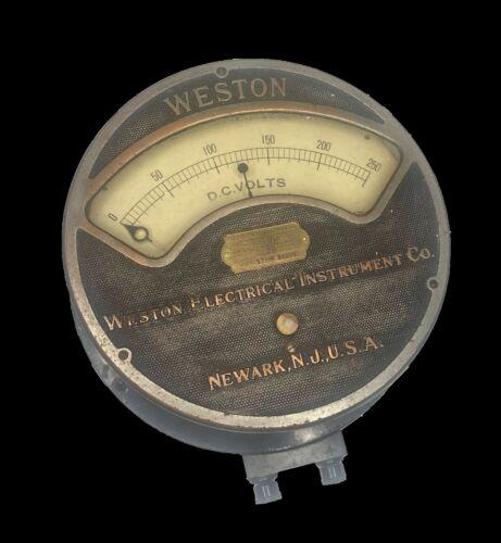 Antique Weston Electrical Instrument Co 1917 Model 57 DC Voltmeter