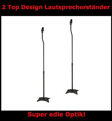2x LAUTSPRECHERSTÄNDER 68-110 CM BOXENSTÄNDER SCHWARZ NEU BOXEN SURROUND