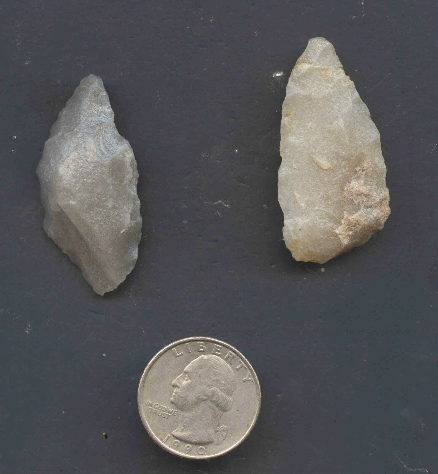 SET OF 2 ARROWHEADS AUTHENTIC NATIVE AMERICAN ARTIFACTS