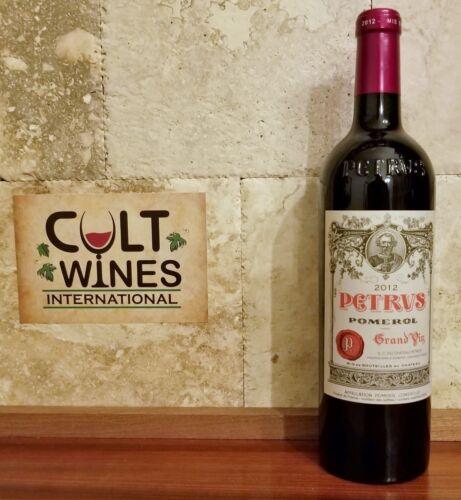 Js 98, Rp 98 Pts! 2012 Chateau Petrus Pomerol Bordeaux Wine.