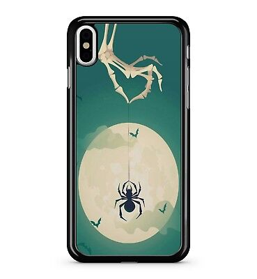 Moon Skeleton Hand Drop Down Spider Web 2D Phone Case Cover (Drop-down-spider)