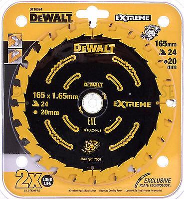 DeWalt DT10624 EXTREME Sägeblatt 165 x 20 mm 24 Z für Handkreissäge