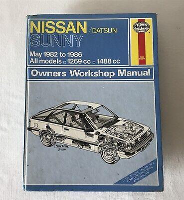 Nissan/Datsun Sunny 1982-1986 All Models Haynes Owners Workshop Manual 895 1988