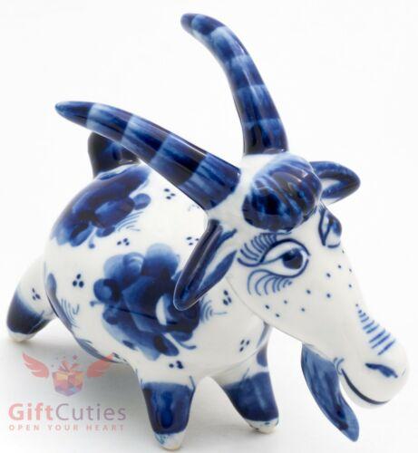 Porcelain gzhel Goat figurine handmade Гжель
