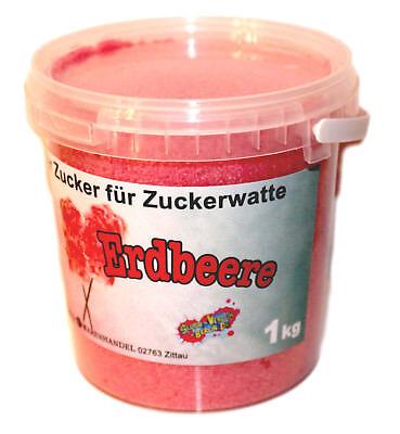 1 Kg Farbaromazucker Erdbeere Zucker für Zuckerwattemaschine bunte Zuckerwatte