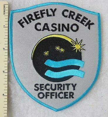 FIREFLY CREEK MINNESOTA CASINO SECURITY OFFICER PATCH on GREY Vintage ORIGINAL