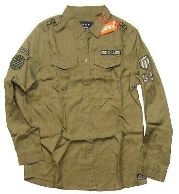 Superdry Women's Cowboy Khaki Military Button Front Shirt