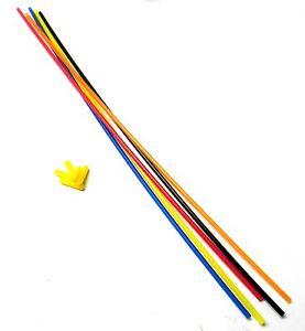 Plastic Antenna Pipe Yellow Cap Receiver Aerial Tube x5