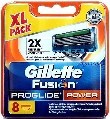 8 Stück Gillette Fusion Proglide Power 8er Rasierklingen NEU & OVP