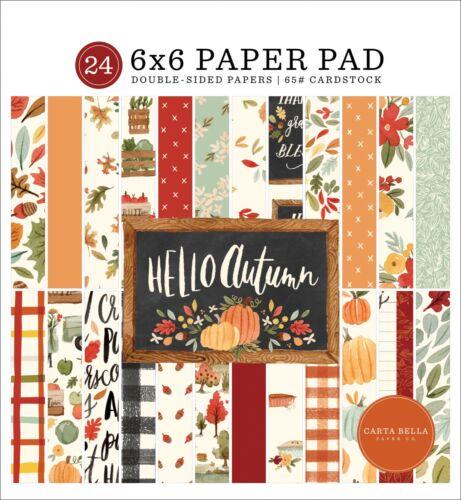 Carta Bella Paper HELLO AUTUMN 6x6 Scrapbook Paper Cardstock Pad