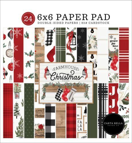 Carta Bella Paper FARMHOUSE CHRISTMAS 6x6 Scrapbook Paper Cardstock Pad