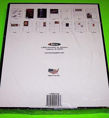 100 PRO 3-POCKET PHOTO PAGES - 4X6 PHOTOS, POSTCARDS, COUPONS, ETC,ARCHIVAL SAFE - $13.25