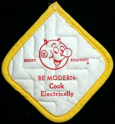 Vintage Reddy Kilowatt Electric Cook Electrically Oven Mitt / Pot Holder