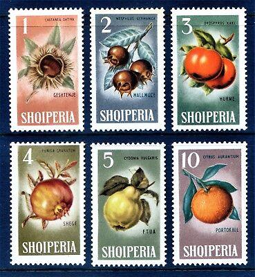 Albania 1965 sg873-8 Winter Fruits/Medlars/Persimmon/Pomegranite/Quince/ U/M
