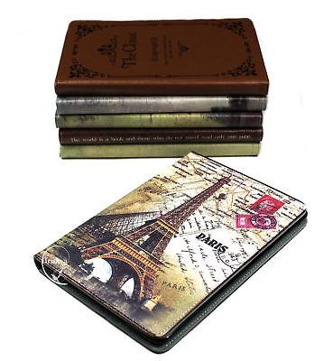 Ipad Mini 1/2/3/4 Paris Eiffel Fashion Leather Smart Cover Flip Case Kickstand (Ipad Mini 3 Cover Paris)