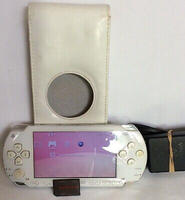 Sony PlayStation Portable Console White + Case, charger,2GB memory, Bid Now for sale  Shipping to Nigeria